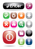 Colorful webpage icon button Royalty Free Stock Photos