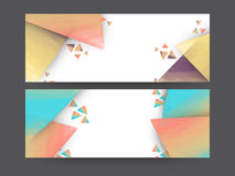 Colorful website header or banner set. Colorful website header or banner set with abstract design for your business Royalty Free Stock Photos