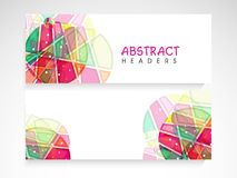 Colorful website header or banner set. Colorful abstract website header or banner set for your business Royalty Free Stock Images
