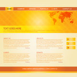 Colorful Website Template Royalty Free Stock Photography