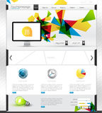 Colorful website template. Colorful modern website template with navigation elements and detailed icons, all  based and sizable Stock Photos