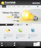 Colorful website template. Colorful modern website template with navigation elements and detailed icons, all  based and sizable Royalty Free Stock Photo