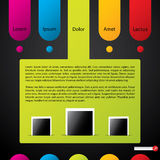 Colorful website template Stock Photography
