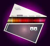 Colorful Webstite Template Stock Image