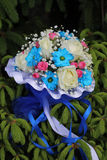 Colorful  wedding bouquet Stock Image