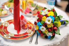 Colorful wedding bouquet Stock Photos