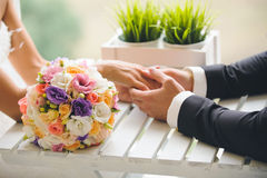 Colorful Wedding Bouquet Stock Images