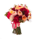 Colorful wedding bouquet on white background. See my other works in portfolio Royalty Free Stock Photo
