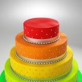 Colorful wedding cake Stock Photos