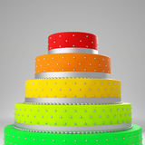 Colorful wedding cake Royalty Free Stock Photography
