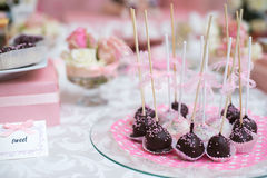 Colorful Wedding Candy Table with all the Royalty Free Stock Image