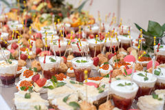 Colorful Wedding Table with all the goodies on display Stock Photography