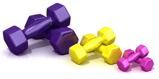 Colorful weights Royalty Free Stock Photo