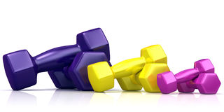 Colorful weights Royalty Free Stock Image