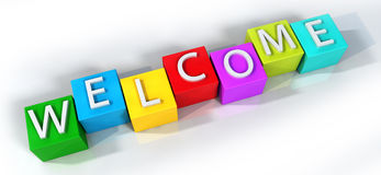 Colorful Welcome Stock Photos