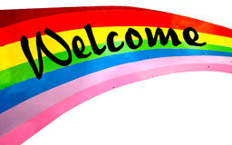 Colorful of welcome Stock Image