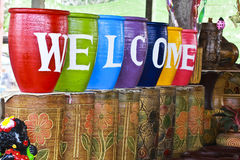 Colorful of the Welcome.  royalty free stock photos