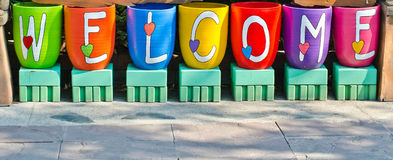 Welcome sign. Royalty Free Stock Photography
