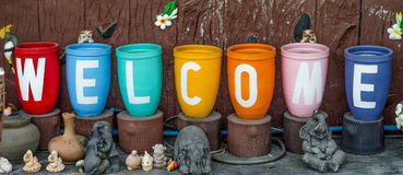 Colorful of welcome Royalty Free Stock Images