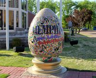 Colorful Welcome to Memphis Faberge Egg Stock Photo