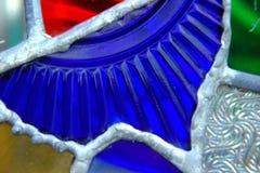 Colorful glass art stock photo