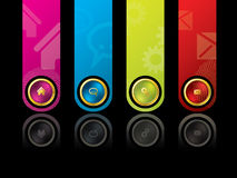 Colorful wesbite design template Royalty Free Stock Photography