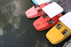 Colorful weter bike or boat is relax sport activity Stock Photography