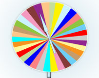 Colorful wheel of fortune game Stock Photos