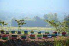 Colorful wheel Stock Photos