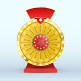 Colorful wheel of luck or fortune infographic. Vector Stock Photography