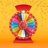 Colorful wheel of luck or fortune infographic. Vector Stock Image