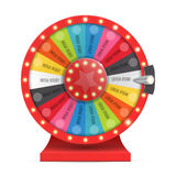 Colorful wheel of luck or fortune infographic. Vector stock illustration