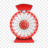 Colorful wheel of luck or fortune infographic. Vector Royalty Free Stock Image