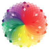 Colorful wheel in vector. Applications built with Royalty Free Stock Photography