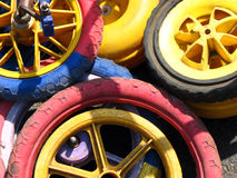 Colorful Wheels royalty free stock photography