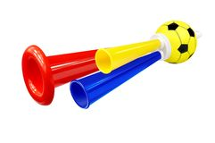 Colorful Whistle Soccer Fan Stock Image