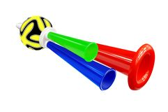 Colorful whistle soccer fan Stock Photo
