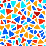 Colorful on white triangle shape mosaic geometric seamless pattern, vector Vector Illustration
