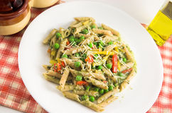 Colorful whole wheat penne Stock Photography