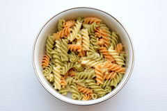 Colorful Wholegrain pasta Stock Images