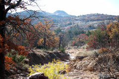 Colorful Wichita Mountains. This was taken in the area of the Wichita Mountains in Oklahoma Stock Photos
