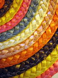 Colorful wicker surface Stock Images