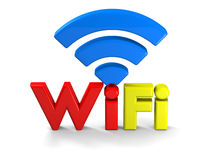 Colorful WiFi symbol Royalty Free Stock Photo
