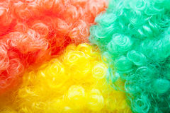 Colorful wig background Royalty Free Stock Image