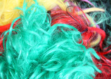 Colorful wigs. Background of colorful dress up wigs Stock Images