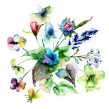 Colorful wild flowers Royalty Free Stock Photos