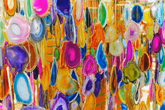 Colorful wind chimes Stock Photo