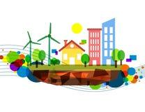 Colorful wind energy illustration Stock Image