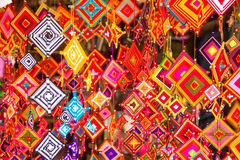 Colorful  wind hangings. The colors of wind hangings Royalty Free Stock Image