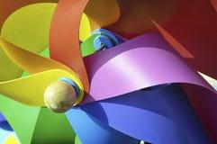 Colorful wind wheel Stock Photo